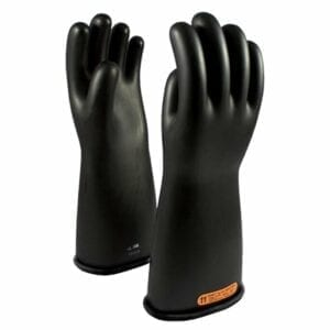 Class 4 Rubber Glove 18″ Length, 36000 Max Use Voltage Size 8 Black